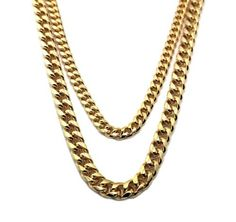 $49.95  #Gold	#2	#Chains	#8mm	#30	#Inch	#&	#10mm	#36	#Inch	#Brass	#Necklaces