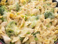 Cazuela de Pasta con pollo y brócoli