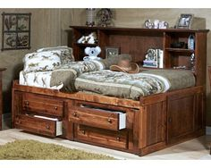 Full Roomsaver Bed   Rustic   Sam Levitz Furniture