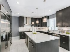 Richmond, BC, Canada | RESAAS Kitchen Colors, Kitchen Decor, Kitchen Ideas, Kitchen Designs, Bathroom Interior, Interior Design Living Room, Espresso Kitchen Cabinets, House Paint Exterior, Custom Cabinetry