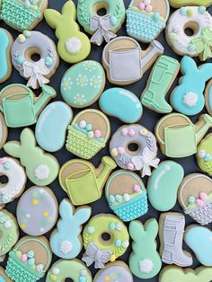 Mini Easter/Spring Cookie Cutters Set of 10 Mini Cookies, Iced Cookies, Easter Cookies, Royal Icing Cookies, Birthday Cookies, Holiday Cookies, Owl Cookies, Sugar Cookies, Cookie Cutter Set