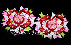 set of Two small piggie bows boutique by tootoocute4you on Etsy, $8.50