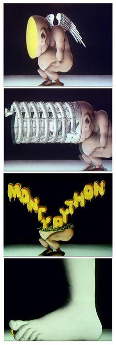 Terry Gilliam. Títulos de crédito de la serie de televisión Monty Python's Flying Circus, (1969-1974)