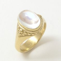 Blue Moonstone Ring by Caleb Meyer