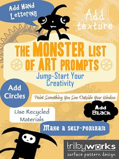 Sometimes you need a little help getting started. I've been collecting art prompts and ideas to get you creating!