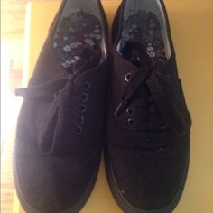 Black Keds style shoes All black Keds style shoes. Excellent condition. Only wore for work for a couple months. Shoes