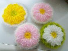 거베라수세미(핑꾸꽃수세미) 과정샷 올려요~ : 네이버 블로그 Crochet Dishcloths, Crochet Stitches, Free Crochet, Knit Crochet, Knitting Patterns, Crochet Patterns, Creative, Needlework, Diy And Crafts