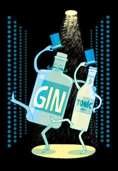 Gin Tonic. FRAME INCLUDED. Giclée signed and numbered copies. Art Print. Limited edition.