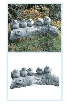 Bird Statues, Garden Statues, Cast Stone, Oasis, Backyard, Birds, Outdoor Decor, Ceramic Art, Patio