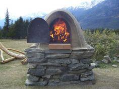 An outdoor wood burning oven...hmmmm.