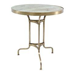 Mesa cafetería redondas en mármol o madera de venta online.
