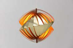 Mid-Century Konkylie Brass Pendant Lamp by Louis Weisdorf for Lyfa for sale at Pamono