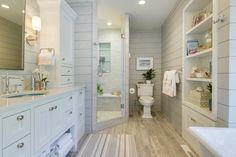 Cozy turquoise white bathroom