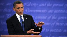 #127 Oct. 16-Can Barack Obama Mount a Credible Debate Comeback?; PHOTO: President Barack Obama speaks during his debate with Republican Presidential candidate Mitt Romney at the University of Denver in Denver, Colorado, Oct. 3, 2012.