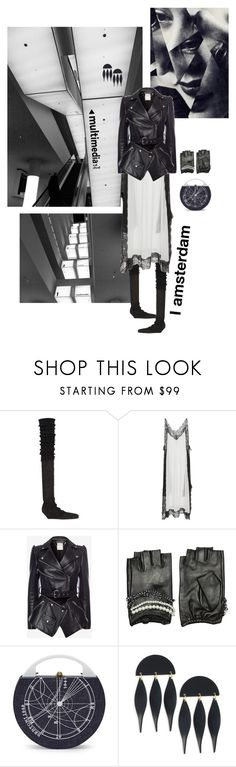 """""""Media"""" by ladyarchitect ❤ liked on Polyvore featuring Rick Owens, Christopher Kane, Alexander McQueen, Karl Lagerfeld, Bertoni, Lele Sadoughi, blackandwhite, Amsterdam, Netherlands and outfitsfortraval"""