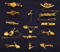 Australia, Jewelry from the Australian Gold Rush, gold, c. 1880/1915.
