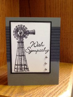 Sympathy Men's Cards, Diy Cards, Stampin Up Cards, Handmade Cards, Greeting Cards, Male Birthday, Birthday Cards For Men, Scrapbook Pages, Scrapbooking