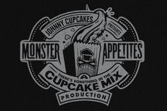 Johnny Cupcakes / Events Cool Typography, Typography Design, Lettering, Johnny Cupcakes, Cupcake Mix, Monster Cupcakes, Screen Printing Shirts, Logos, Invitation Design