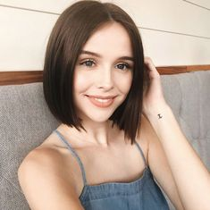 66 Chic Short Bob Hairstyles & Haircuts for Women in 2019 - Hairstyles Trends Cute Hairstyles For Short Hair, Short Hair Cuts, Straight Hairstyles, Short Hair Styles, Perfect Hairstyle, Straight Bob Haircut, Short Straight Hair, Short Hair Plus Size, Cute Short Hair