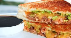 BBQ Pork and Guacamole Grilled Cheese - Recipes from @Tillamook