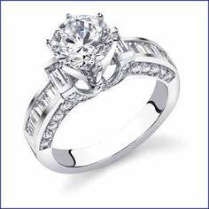 Gregorio 18K WG Diamond Engagement Ring R-107