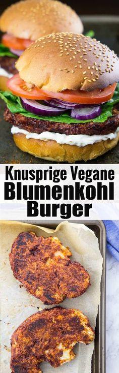Super leckerer veganer Burger mit knusprigen BBQ Blumenkohl Burger Patties! Vegane Rezepte können so lecker sein! Mehr vegetarische Rezepte und Grillrezepte findet ihr auf meinem Food Blog veganheaven.de via @veganheavende