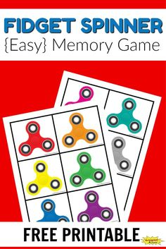 Free Printable Fidget Spinner Memory Game for Kids Train Games For Kids, Memory Games For Kids, Fidget Spinner Games, Cool Fidget Spinners, Train Activities, Preschool Activities, Worksheets For Kids, Free Games, Free Printables