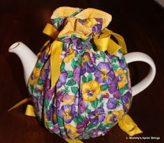 Easy Gathered Tea Cozy, reversible