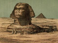 Vincent Brooks Day Lith - The Pharaohs and their people The Sphinx. Sphinx Egypt, Old Photographs, Photos, Old Egypt, Historical Sites, Mona Lisa, Paintings, Black And White, Drawings