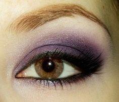 Purple smoky eye make-up-and-hair