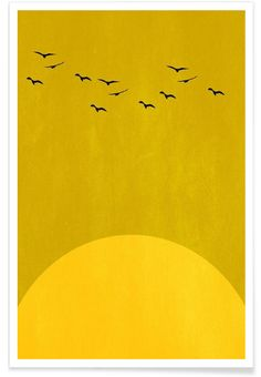 Sonnentanz als Premium Poster door Kubistika | JUNIQE