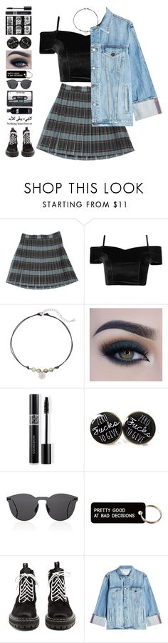 """""""Murphy"""" by brie-the-pixie ❤ liked on Polyvore featuring xO Design, LC Lauren Conrad, Too Faced Cosmetics, Christian Dior, Illesteva, Various Projects, Proenza Schouler, Frame, black and Dark"""