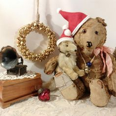 Would you like to have your old teddy bear baby sing Christmas carols? The one in the photo is no available, but check out the one tagged! Old Teddy Bears, Steiff Teddy Bear, Baby Singing, Teddy Bear Pictures, Old Dolls, Bear Toy, Christmas Carol, Stuffed Animals, Pet Toys