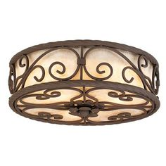 Natural Mica Collection 12 Wide Ceiling Light Fixture