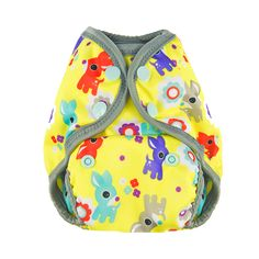 Oh Deer - Tuck-Wrap-Go Cover - Size 1 (Newborn/SM) – Nuggles Designs Canada #clothdiapers #newborndiapers #diapers #clothdiapercover