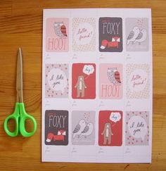 Cheeky Mini Valentines printable PDF love notes by FandGForest, $4.00