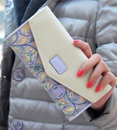 Long Floral Leather Wallet