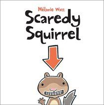 Scaredy Squirrel by Mélanie Watt is a really great picture book that children of all ages will enjoy. It's about a squirrel who is afra. Scaredy Squirrel, Good Books, My Books, Two Story Windows, Summer Reading Lists, Thing 1, Mentor Texts, Reading Levels, Reading Groups