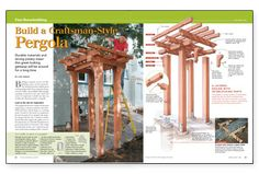 craftsman style decks | Preview - Build a Craftsman-style Pergola - Fine Homebuilding Article