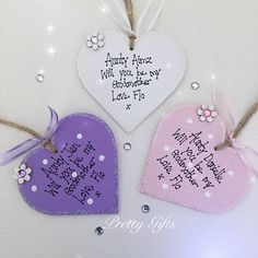 Personalised Will You Be My Godmother Godfather Godparents Heart Keepsake Gift, £7.00