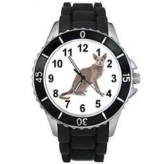 BMSC1367 Oriental Cat Mens Womens Unisex Fashion Black Jelly Silicone Wrist Watch *** For more information, visit image link.