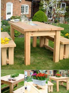 Table with built-in cooler or planter