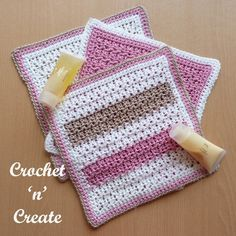 Pamper yourself with this soft cotton bathroom washcloth, if you have basic crochet stitch knowledge you should not have any problems making this cloth.