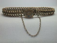 "Victorian Turquoise Bracelet 14K MFG P.S. 22.7 Gm 7.5 "" Vintage Estate Art Deco #Handmade #Chain"