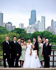 """You Have an Uneven Number of Attendants: There is no requirement for the """"sides"""" of the wedding party to be even. It looks nice in the pictures, and it makes for a visually pleasing recessional (and sometimes processional), but it's not at all important. #choosingbridalparty"""