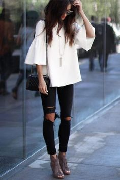 Cómo vestir con Jeans Rasgados para mujer //  #cómo #Jeans #mujer #para #Rasgados #vestir