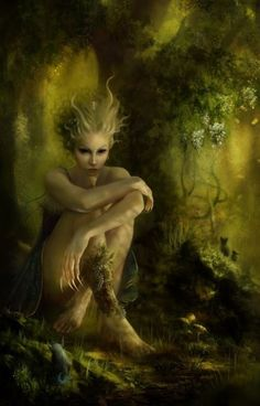 """""""Leshachikha's themes are earth, nature, harvest, birth, and protection. Her symbols are leaves and seeds. A Goddess who sometimes appears as a Slavic forest, a wild animal, or a leaf, Leshachikha is said to have died in October and revived around this time of spring. """""""