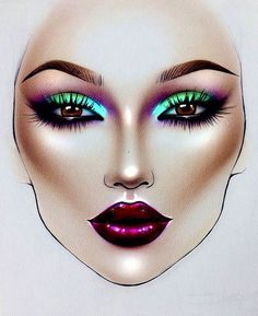 65 Trendy Makeup Face Charts Tutorials Make Up Mac Makeup Looks, Makeup Is Life, Crazy Makeup, 80s Makeup, Beauty Makeup, Makeup Inspo, Makeup Inspiration, Makeup Ideas, Mac Face Charts
