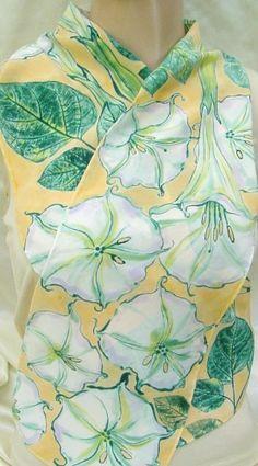 Hand painted silk scarf by Morgansilk