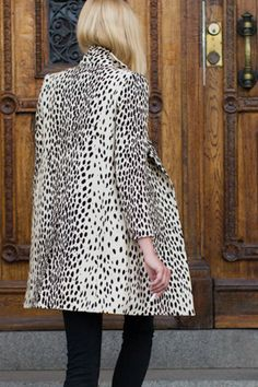 A leopard coat that's not furry - Wingtip Coat - Leopard Linen | Emerson Fry